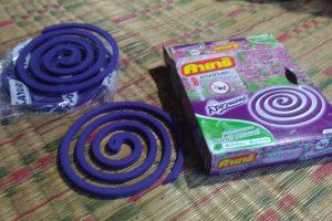 タイの蚊取り線香は、日本と同じ渦巻き型なんですよ!
